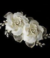 Rose Bridal Comb