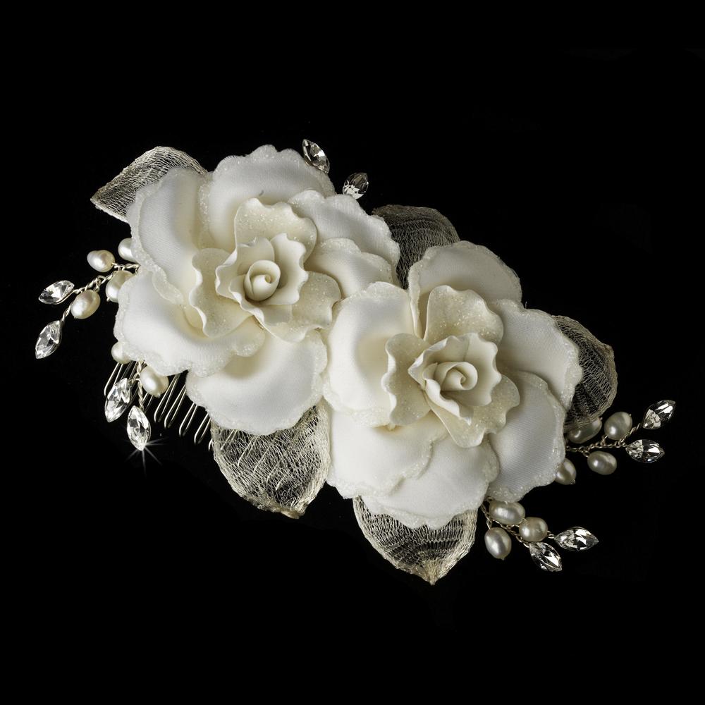 viktorie rose bridal comb - elegant bridal hair accessories