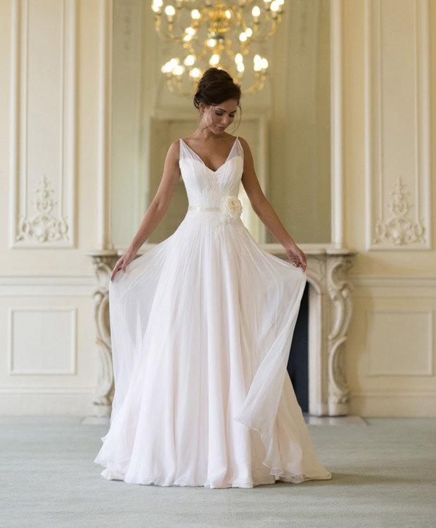 Simple Elegant Open Back Long Sleeve Wedding Dress: 20 Elegant Simple Wedding Dresses
