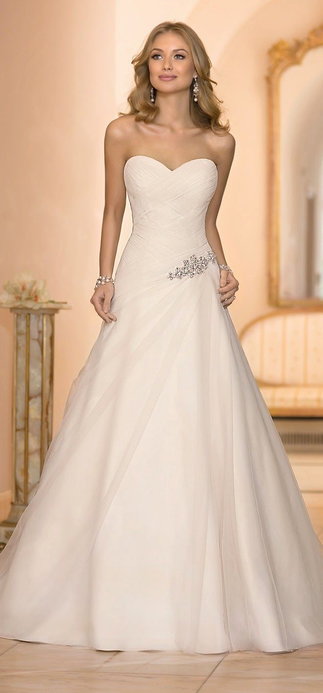 20 Elegant Simple Wedding Dresses Of 2015 BridalTweet Wedding Forum V