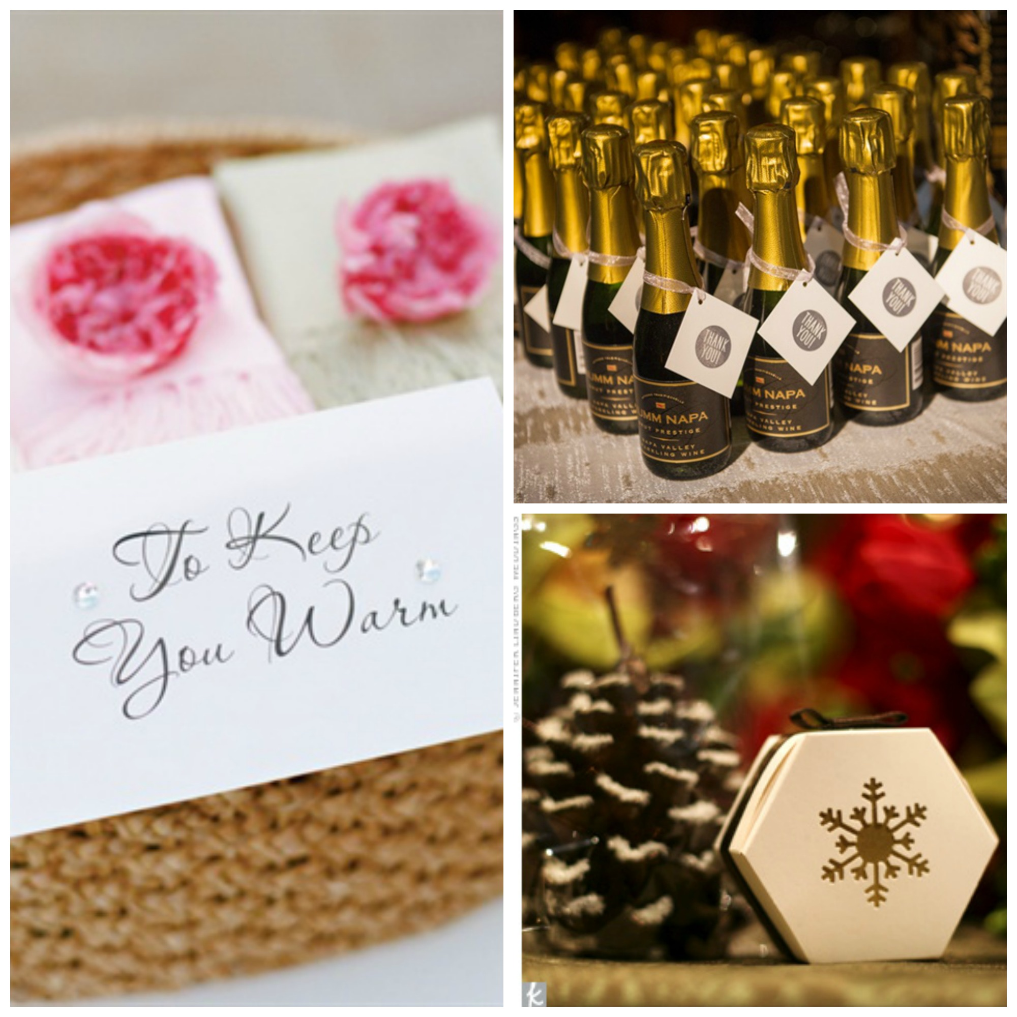 13 winter wedding favors your guests will actually want