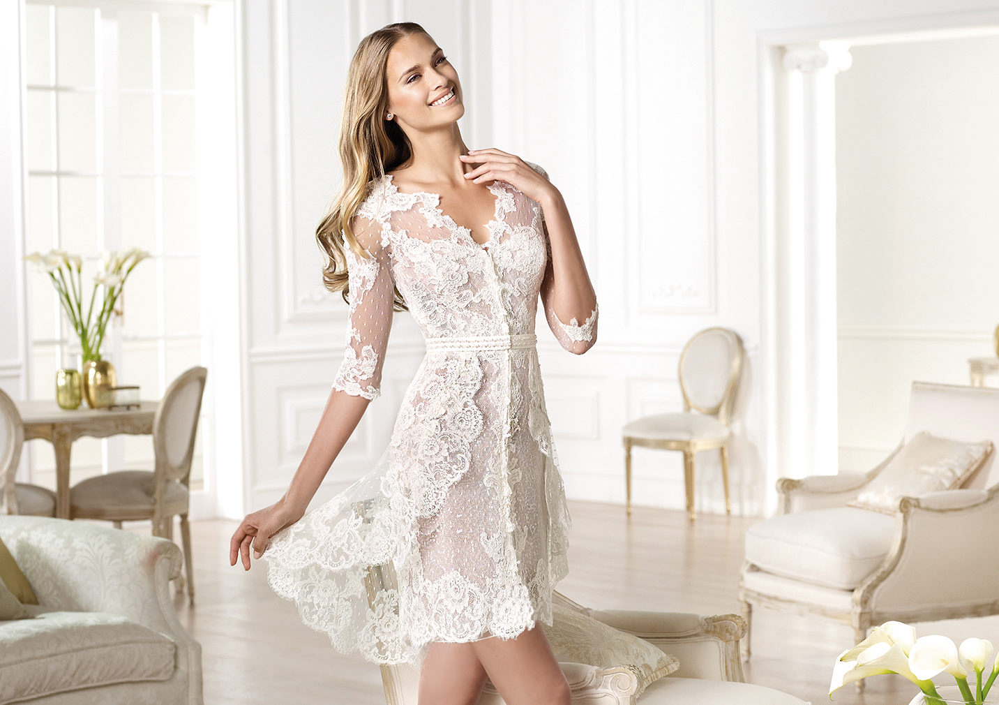 10 reasons to love short wedding dresses for Wedding dress ideas for short brides