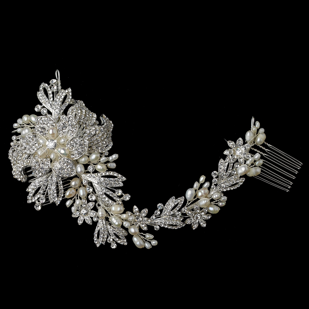 gallica bridal vine hair comb - elegant bridal hair accessories