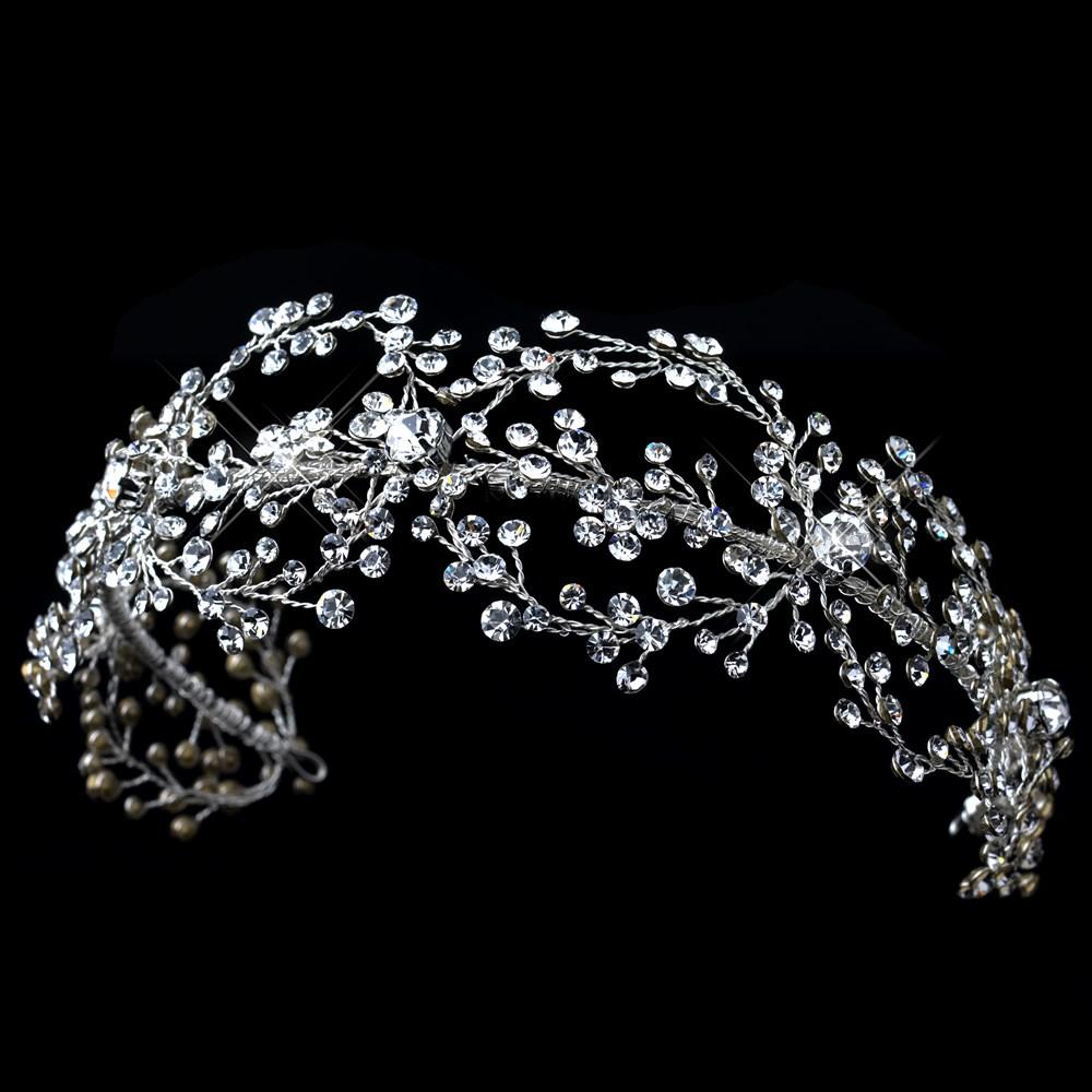 Wedding Hair With Rhinestone Headband : Twyla rhinestone headband elegant bridal hair accessories