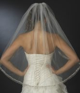 Beaded Fingertip Veil