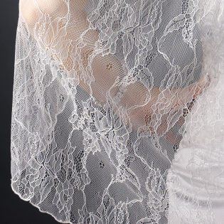 Embroidered Lace Veil