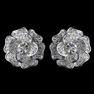 Clip On Bridal Earrings