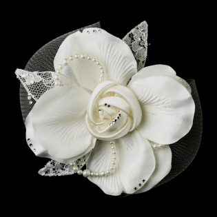Lace Flower Hair Clip