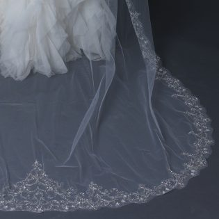 Single Tier Cathedral Veil
