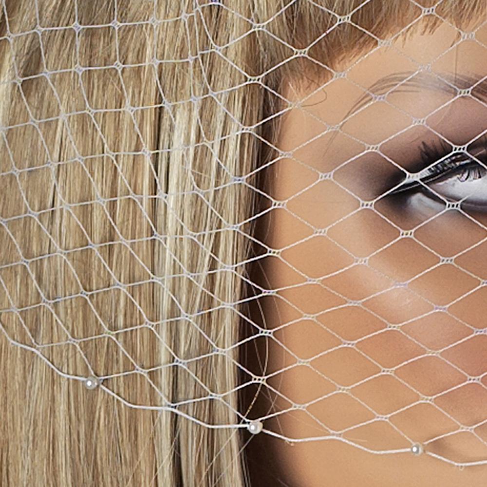 Pearl Birdcage Veil