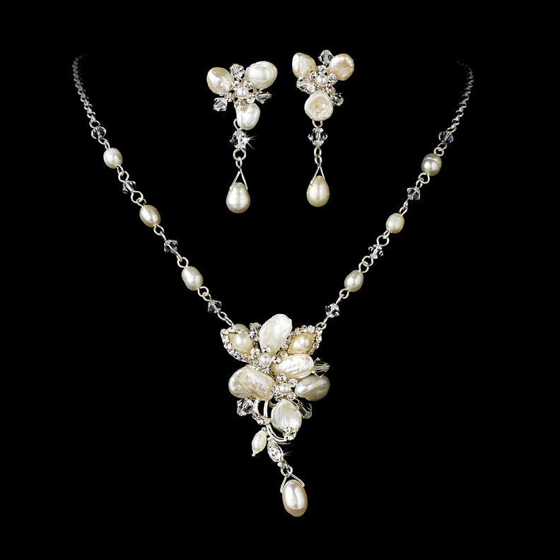 Blushing Freshwater Pearl Jewelry Set Elegant Bridal Hair Accessories
