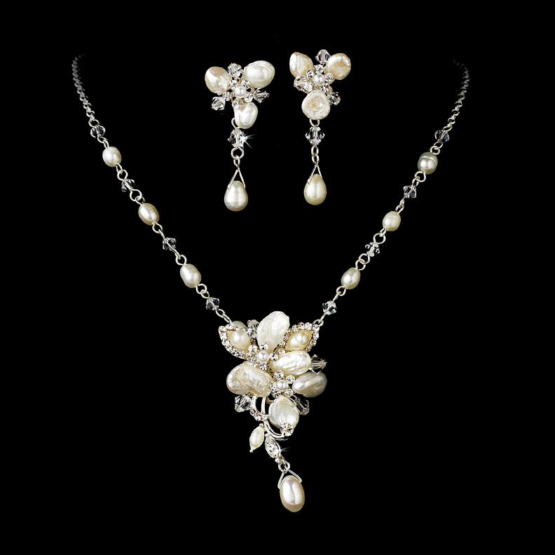 Locket Charm Bracelet: Blushing Freshwater Pearl Jewelry Set