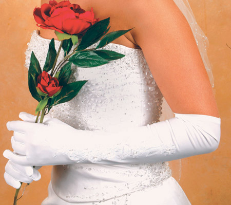 Embroidered Bridal Gloves
