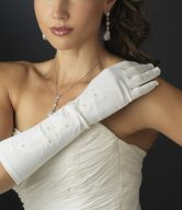 Embroidered Bridal Gloves
