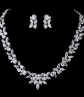 CZ Necklace Earrings Set