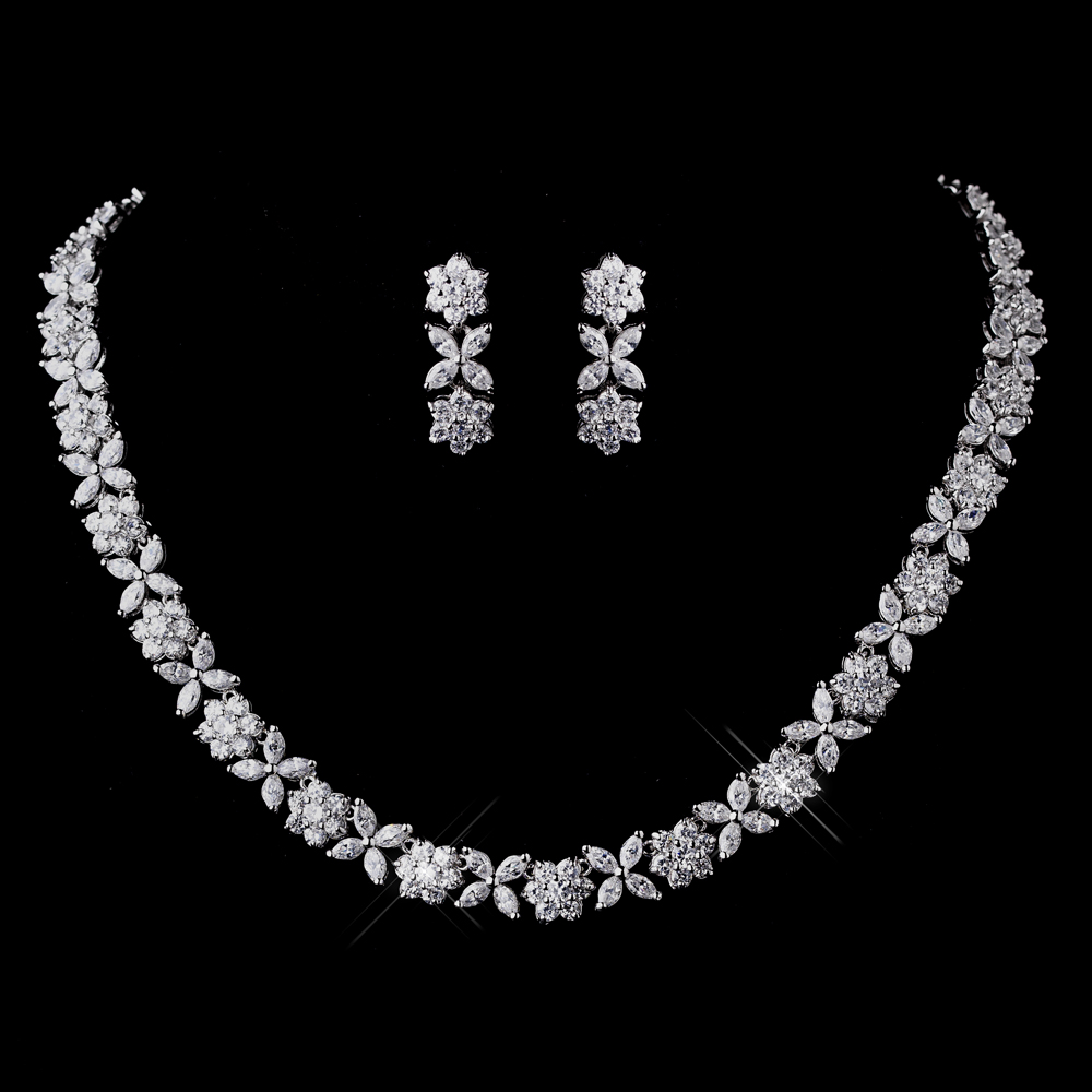 CZ Necklace & Earring Set