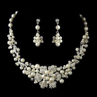 Flower Bridal Jewelry Set
