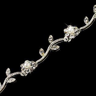 Rhinestone Floral Bracelet